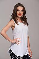 Удлиненная блуза белая