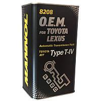 Синтетическое трансмиссионное масло Mannol 8208 O.E.M. for TOYOTA, LEXUS (TYPE T-IV) 1L