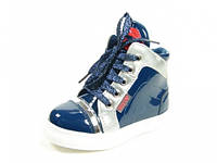 Детские модные ботинки J&G:A-2558-1 Синий,р.21,22,23