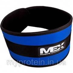MEX Nutrition Пояс Fit-N Wide Belt Blue
