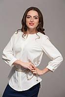 Полуприталенная блуза бежевая