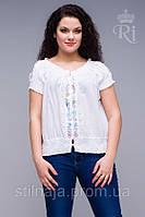 Блуза из натуральной ткани индия белый цвет