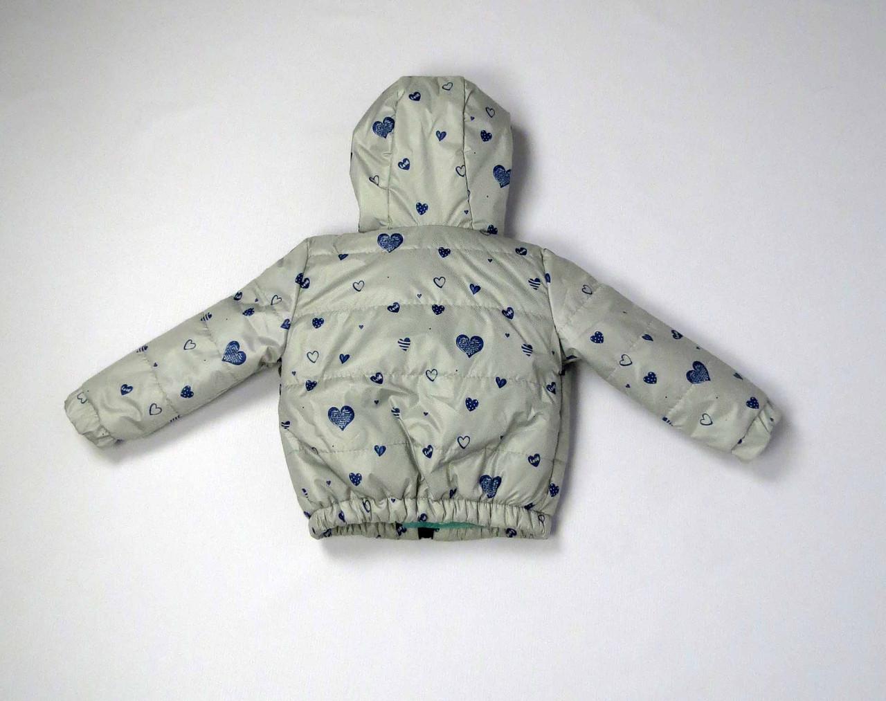 Куртка весна осень беби  код 106 размер 86-104 (1-4 лет) цвет серый, фото 2