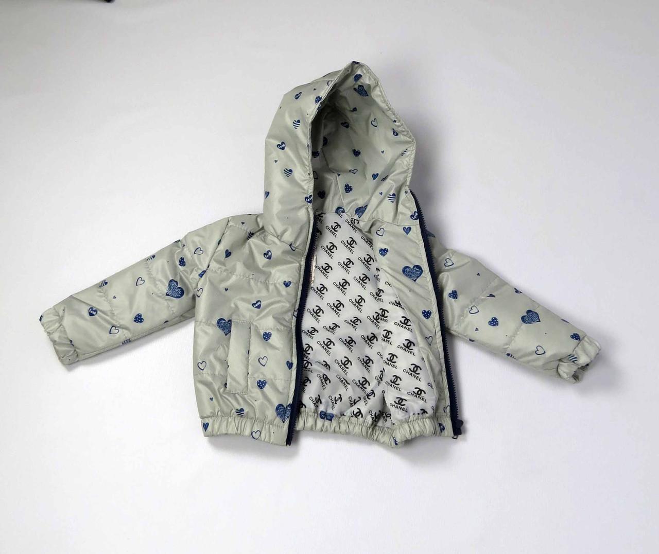 Куртка весна осень беби  код 106 размер 86-104 (1-4 лет) цвет серый, фото 3