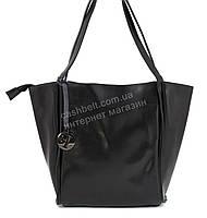Оригинальная стильная прочная элегантная женская сумка матрешка с натуральной кожи art. 919 черный
