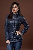 Женская демисезонная куртка. Код модели К-58-12-17. Цвет темно синий.