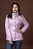 Женская демисезонная куртка. Код модели К-58-12-17. Цвет лиловый.
