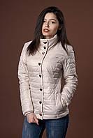 Женская демисезонная куртка. Код модели К-58-12-17. Цвет молочный.