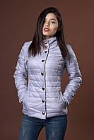 Женская демисезонная куртка. Код модели К-58-12-17. Цвет светло серый.