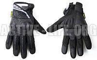 Перчатки тактические с закрытыми пальцами и усил. протектор MECHANIX MPACT 3 (р-р M-XL, Чорний)
