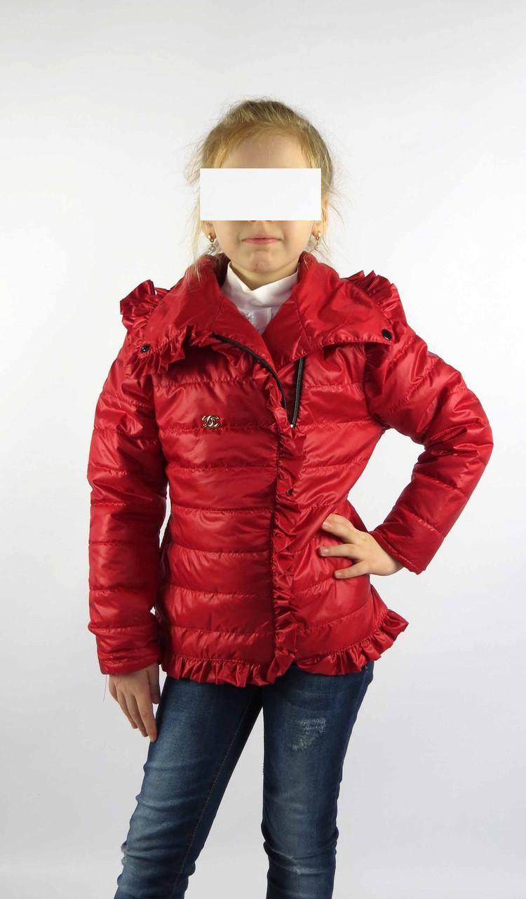 Куртка весна-осень код 572 размер 116-134 (5-9 лет) цвет красный, фото 1