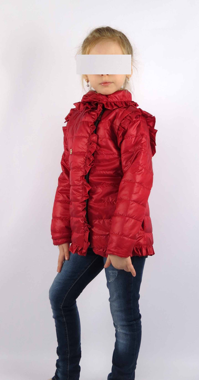 Куртка весна-осень код 572 размер 116-134 (5-9 лет) цвет красный, фото 2