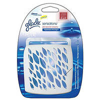 Освежитель воздуха Glade Sensations арома блок Родниковая прохлада для ванной комнаты 9г