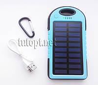 Фонарик LED с аккумулятором Power Bank и солнечной батарей Solar Charger