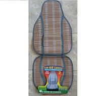 Накидка сидения бамбуковая CU1250GY (2шт) сер., соломка , высокая