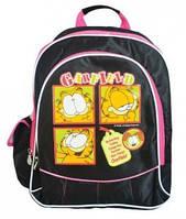 """Ранец школьный """"Garfield"""" черный/ярко-розовый 30*15*41, 1 вересня, 551005"""