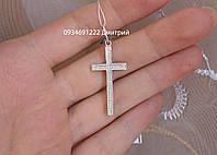 Серебряный крестик прямой без камней и распятия