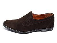 Мужские туфли натуральная кожа Van Kristi 354 Brown р. 40 41 42 44 45