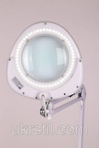 Настольная лампа-лупа 6016 LED, 5 диоптрий белая