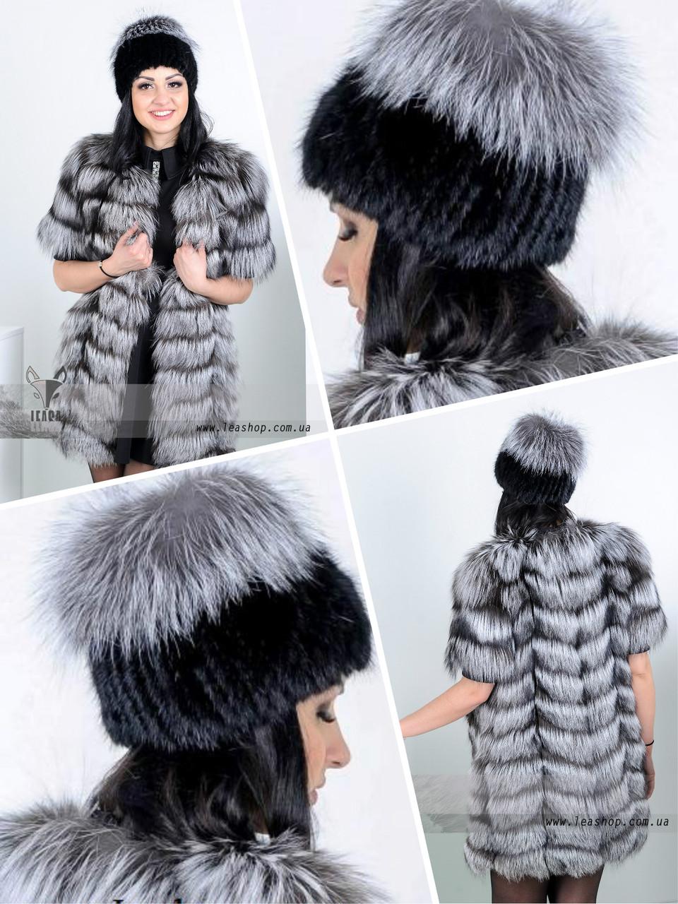 Меховая шапка-парик из Норвежской чернобурки