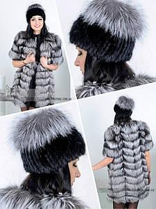 Хутряна шапка-перука з Норвезької чорнобурки