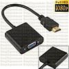 Преобразователь с HDMI в VGA адаптер конвертер видео переходник на  эмулятор монитора емулятор riser райзер +п
