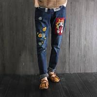 Качественные  джинсы с вышивкой, фото 1