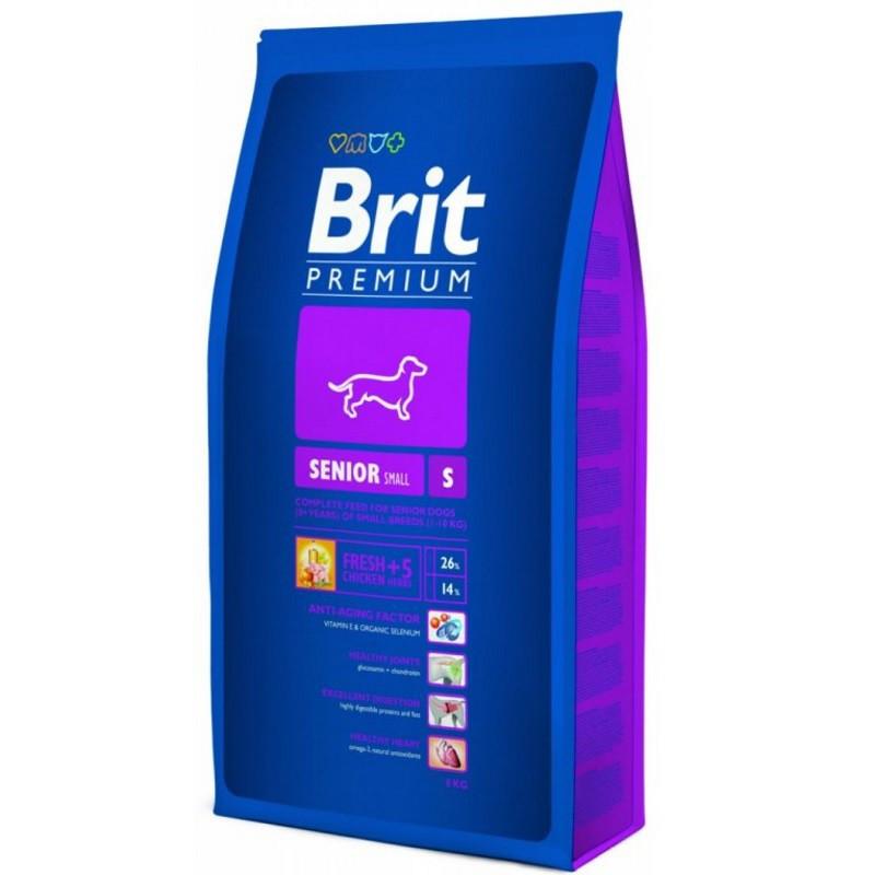 Сухой корм Brit Premium Dog Senior S для стареющих собак мелких пород, 8 кг