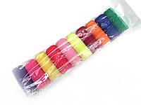 Нитка резинка цветная, 10шт. в упаковке