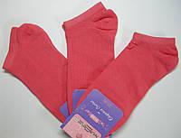 Однотонные цветные короткие носки кораллового цвета