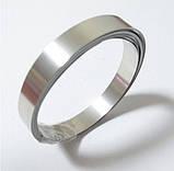 Стрічка сталева нікельована 0,15 х 8,0 мм для зварювання акумуляторів, 1м, фото 3