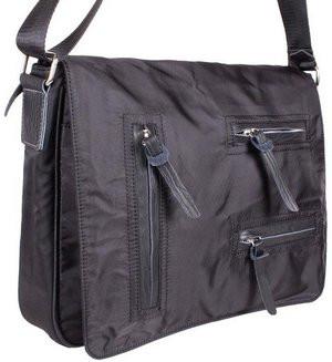 95053ebc426c Мужская текстильная сумка через плечо 305744 черная - SUPERSUMKA интернет  магазин в Киеве