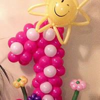 Цифра 1 Солнышко из воздушных шаров