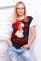 """Стильная женская футболка """"Сool girl 11"""" (Белый)"""