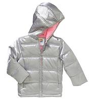 Демисезонная куртка серебристого цвета Healthtex(США) для девочки 1-5 лет