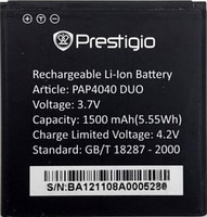 Аккумулятор на Prestigio PAP4040. 1500mAh. оригинал (Китай)
