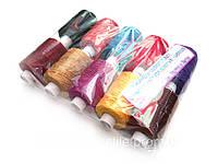Нитки №300пп цветные,(толщина нитки 1мм)  10шт в упаковке.