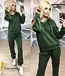 Женский модный замшевый спортивный костюм с капюшоном (4 цвета), фото 2