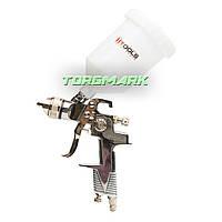 Пистолет покрасочный пневматический HVLP, форсунка 1,3 мм, В/Б пластик, 600 мл., 3.0 bar