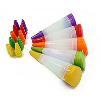 Шприц силиконовый для декора с 3 сменными насадками