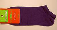Короткие женские носки фиолетового цвета
