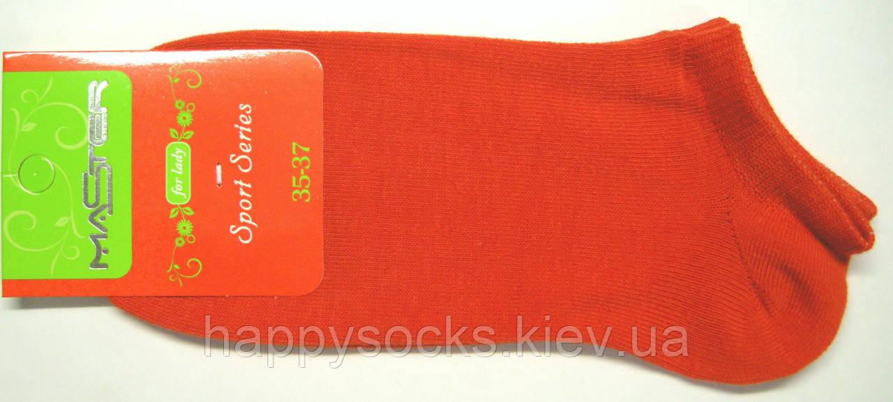 Носки летние морковного цвета короткие женские