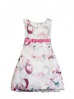 Нарядное платье с цветами, с камешками, бренд взрослой и детской одежды Byblos , Италия
