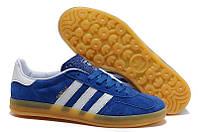 Кроссовки Adidas Gazelle Indoor (Blue/White), фото 1