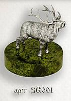 """Серебряная статуэтка  """"Благородный олень"""""""