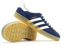 Кроссовки Adidas Gazelle Indoor (Navy Blue/White)