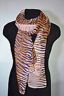 Шарф женский шифоновый тигровый