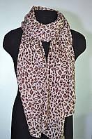 Шарф женский шифоновый леопардовый