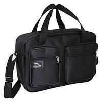 687edc14c655 Мужская сумка Wallaby 2620 черная барсетка через плечо папка портфель А4  35х24х10см