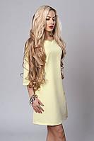 Платье мод. 237-2,размер 46,48 бледно желтое, фото 1